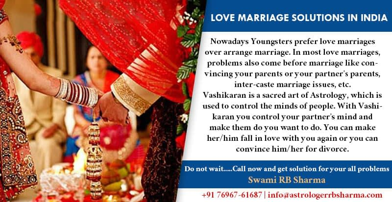 Love Marriage Solutions in India